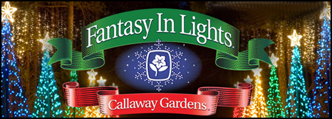 Callaway gardens fantasy in lights and its 8 million lights celebrates its 20th anniversary for Callaway gardens fantasy in lights