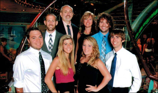 Morris Family - Front (LR): Scott, Elise, Casey, Hunter - Back (LR): Ashton, Tim, Joni, Zach Morris Family – Front (LR): Scott, Elise, Casey, Hunter - Back (LR): Ashton, Tim, Joni, Zach (Courtesy North Carolina Press Release)