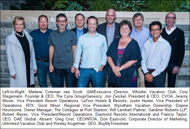 Canadian Vacation Ownership Association (CVOA) Announces New Board of Directors Executives