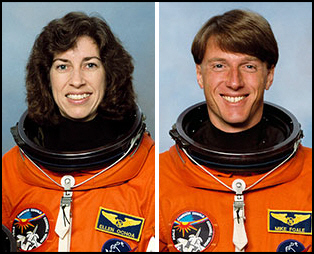 Dr. Ellen Ochoa and Dr. Michael Foale