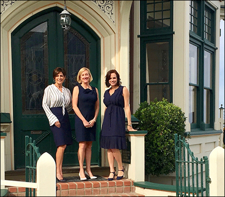 From left: Four Sisters Inns Chief Financial Officer Joni Costa, Shelley Post, and President Tamara Mims