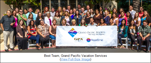 Best Team, Grand Pacific Vacation Services