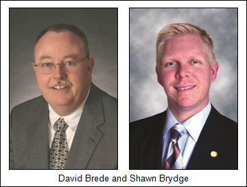 David Brede (Liberty Bank) and Shawn Brydge (Wellington Financial)