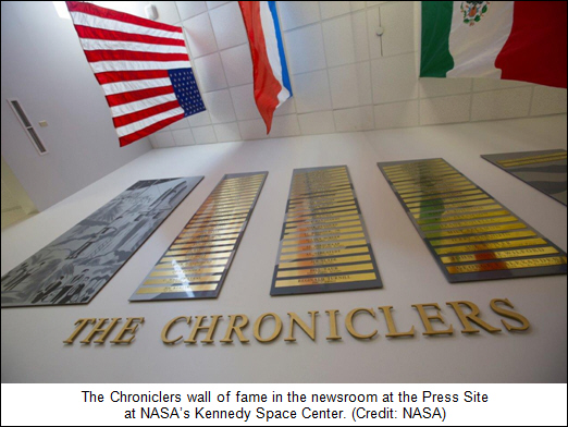 NASA's Kennedy Space Center Announces 2017 'Chroniclers'