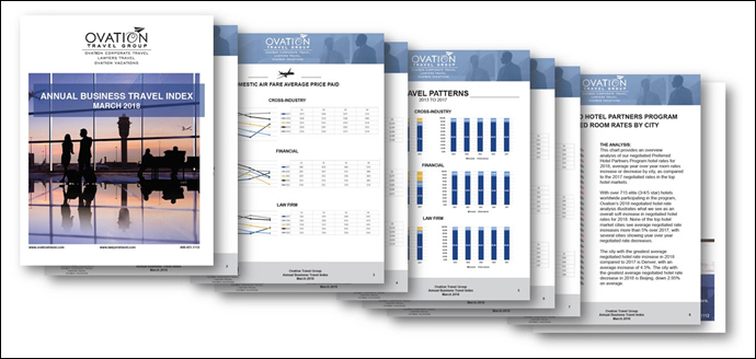 Ovation Corporate Travel Releases 2018 Annual Business Travel Index
