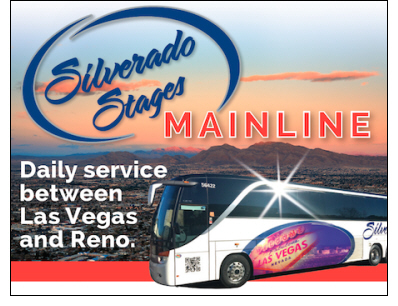 Launch of Las Vegas to Reno Overnight Motorcoach Service with Silverado Mainline