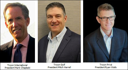 Troon Promotes Three Executives to Division Presidents