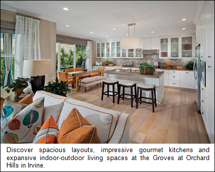 Discover spacious layouts, impressive gourmet kitchens and expansive indoor-outdoor living spaces at the Groves at Orchard Hills in Irvine.